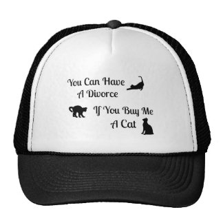 Funny Cat Divorce Trucker Hat