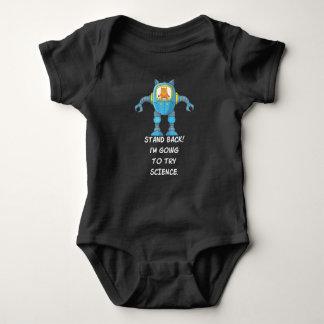 Funny Cat Engineering Scientist Robot Science Baby Bodysuit