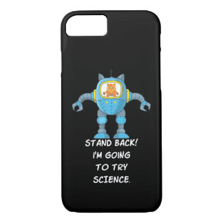 Funny Cat Engineering Scientist Robot Science iPhone 8/7 Case
