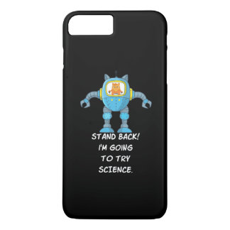 Funny Cat Engineering Scientist Robot Science iPhone 8 Plus/7 Plus Case