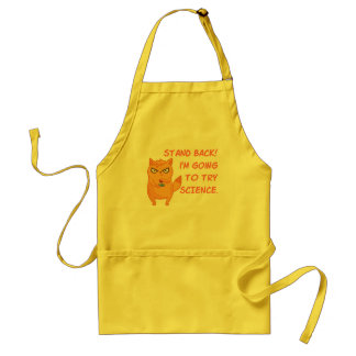 Funny Cat Engineering Scientist Robot Science Standard Apron