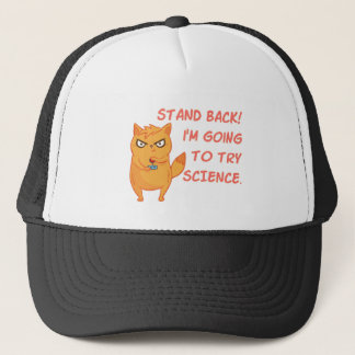 Funny Cat Engineering Scientist Robot Science Trucker Hat