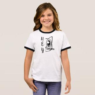 Funny Cat Face Ringer T-Shirt