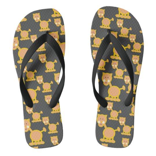 funny cat flip flops