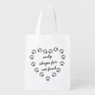 Funny Cat Food Shopping bag