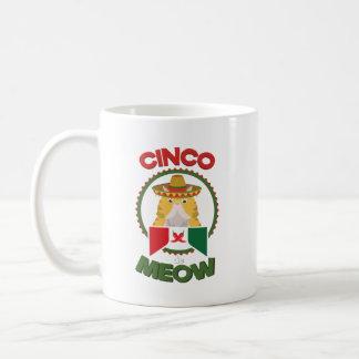 Funny Cat for Cinco de Mayo Mexican Holiday Coffee Mug