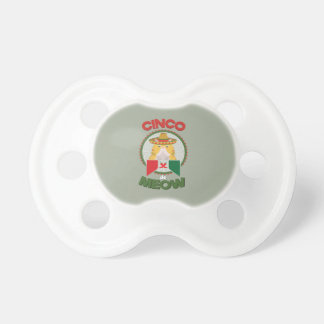Funny Cat for Cinco de Mayo Mexican Holiday Pacifiers