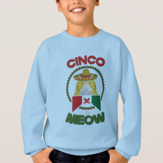Funny Cat for Cinco de Mayo Mexican Holiday Sweatshirt