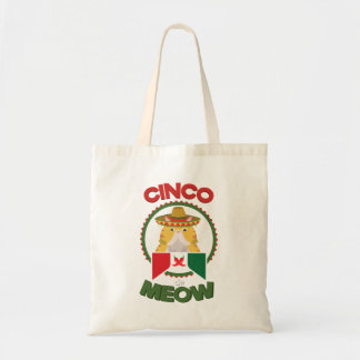 Funny Cat for Cinco de Mayo Mexican Holiday Tote Bag