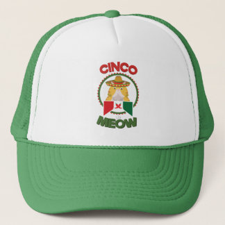 Funny Cat for Cinco de Mayo Mexican Holiday Trucker Hat