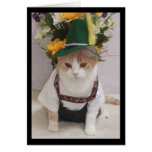 Funny Cat German Birthday Cards