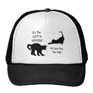 Funny Cat House Trucker Hat