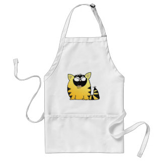 Funny cat laugh standard apron
