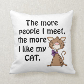 Funny Cat Lover Throw Pillow