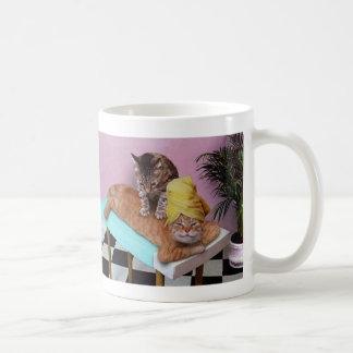 Funny Cat Massage Coffee Mug
