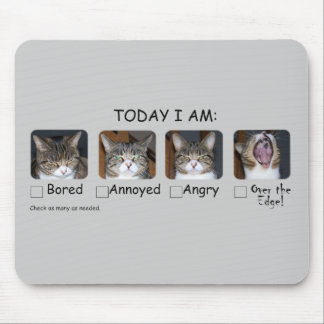 Funny Cat Mouse Pad Mood Picker