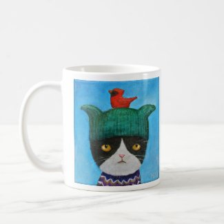 Funny Cat Mug Cat Cardinal Mug Gift for Cat lovers