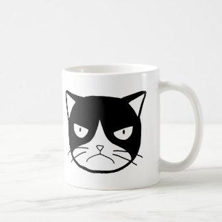 Funny cat Mug Grumpy Tuxedo cat Mug Cat lover Mug