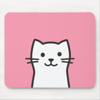 Funny cat portrait mouse pad