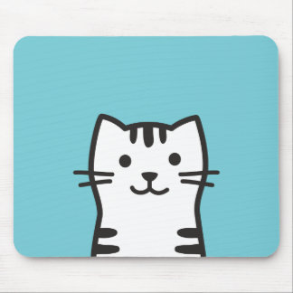Funny cat portrait mouse pad