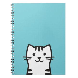 Funny cat portrait notebook
