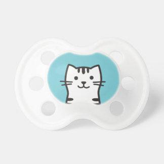 Funny cat portrait pacifier