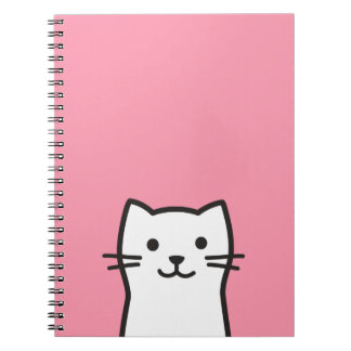 Funny cat portrait spiral notebook