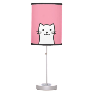 Funny cat portrait table lamp