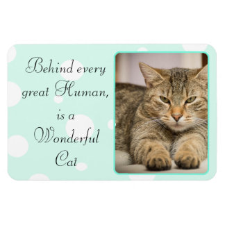 Funny Cat Quotes Teal  Personalized Magnet