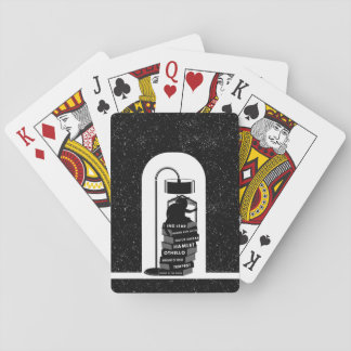 Funny Cat Reading Shakespeare Plays Playing Cards