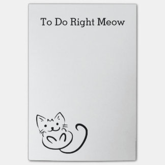 Funny Cat RIGHT MEOW To Do List Post-it Notes
