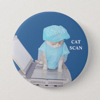 Funny Cat Scan Pin
