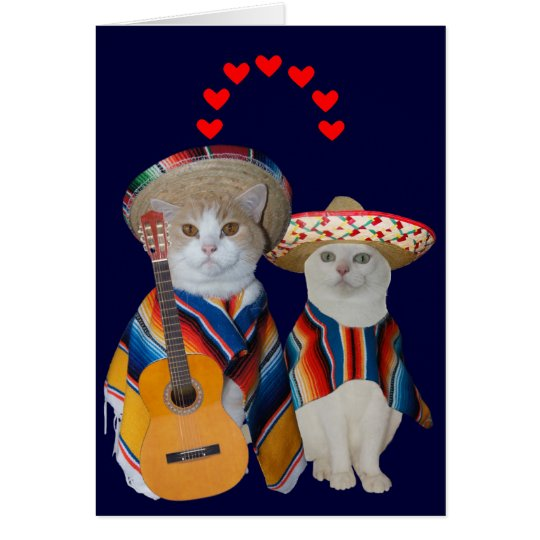 Funny Cat Spanish Valentine for Husband Card