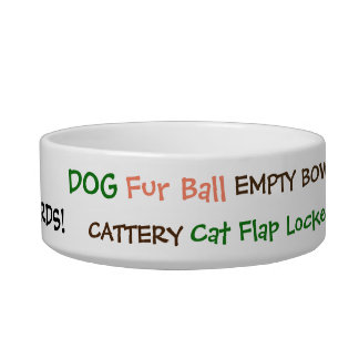 Funny Cat Swear Words! A Puss's Pet Hates Bowl