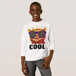 Funny CAT T-shirts for boys Kids, COOL CAT