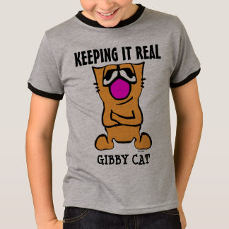 Funny Cat T-shirts for boys Kids GIBBY CAT