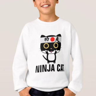 Funny cat T-shirts for boys kids NINJA CAT