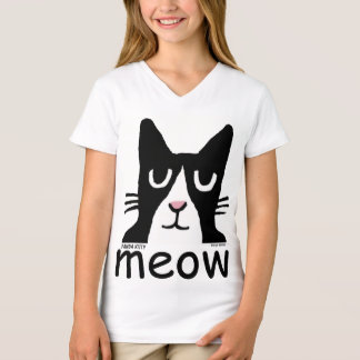 Funny Cat t-shirts for kids, Panda Kitty, MEOW
