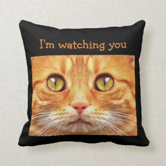 Funny Cat Theme Throw Pillow