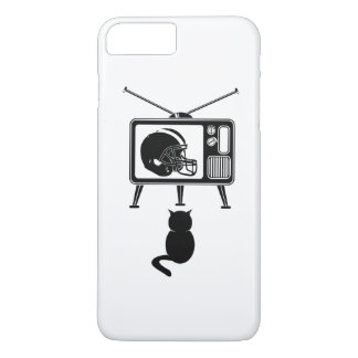 Funny cat watching American football iPhone 7 Plus Case