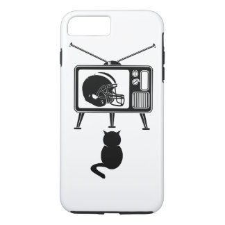Funny cat watching American football iPhone 8 Plus/7 Plus Case