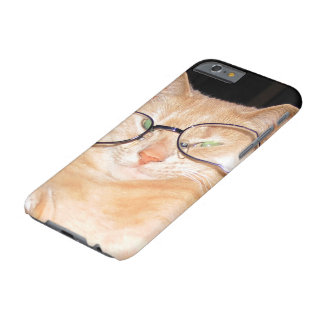 Funny Cat with Glasses iPhone 6s Hard cases Barely There iPhone 6 Case