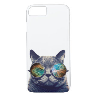 Funny Cat With Glasses iPhone 7 Case