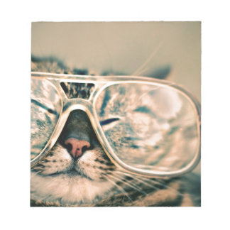 Funny Cat with Glasses Notepad