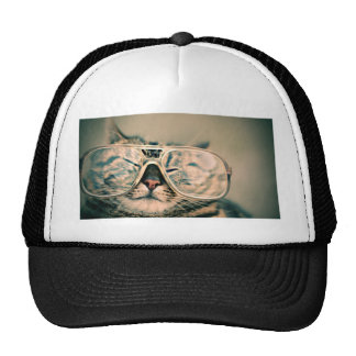 Funny Cat with Glasses Trucker Hat