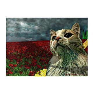 "Funny Cat ""Wizard of Oz"" Baum Acrylic Art Print"