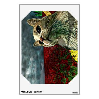 "Funny Cat ""Wizard of Oz"" Baum Emerald Wall Decal"