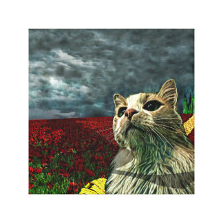 "Funny Cat ""Wizard of Oz"" Baum Fantasy Canvas Print"