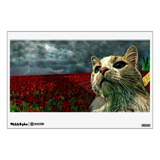 "Funny Cat ""Wizard of Oz"" Baum Rectangle Wall Decal"
