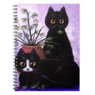 Funny Cats Black Tuxedo Creationarts Notebook